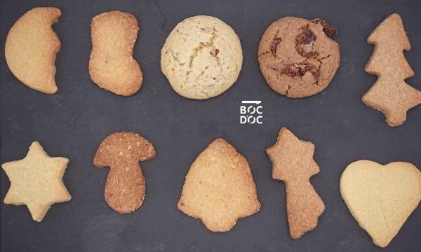 Totalité des Biscuits de noel vu de haut
